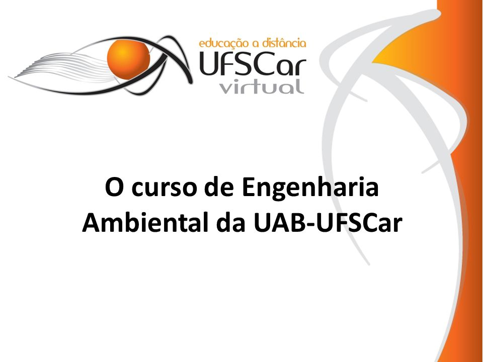 O curso de Engenharia Ambiental da UAB-UFSCar