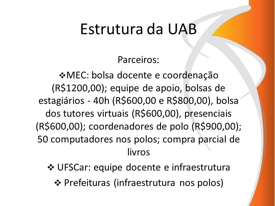 Estrutura da UAB Parceiros: