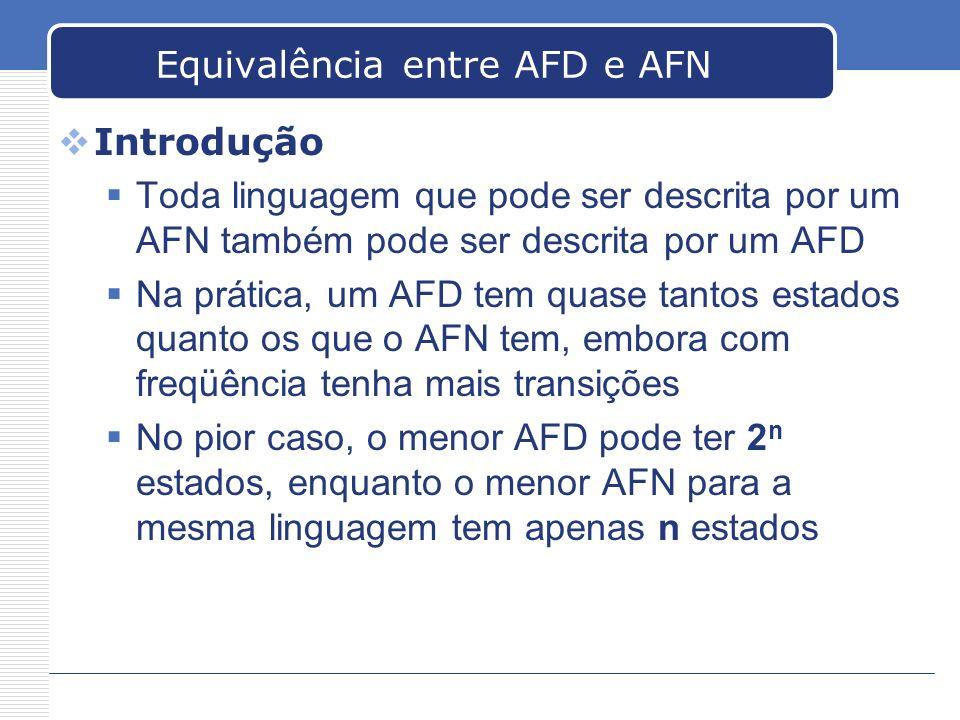 Equivalência entre AFD e AFN