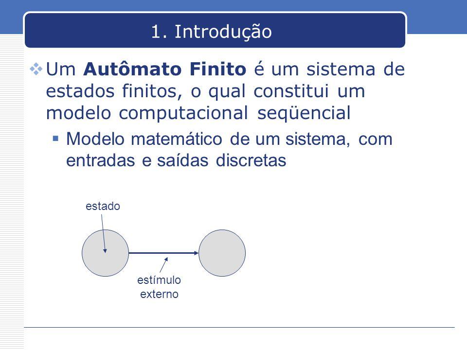 Modelo matemático de um sistema, com entradas e saídas discretas