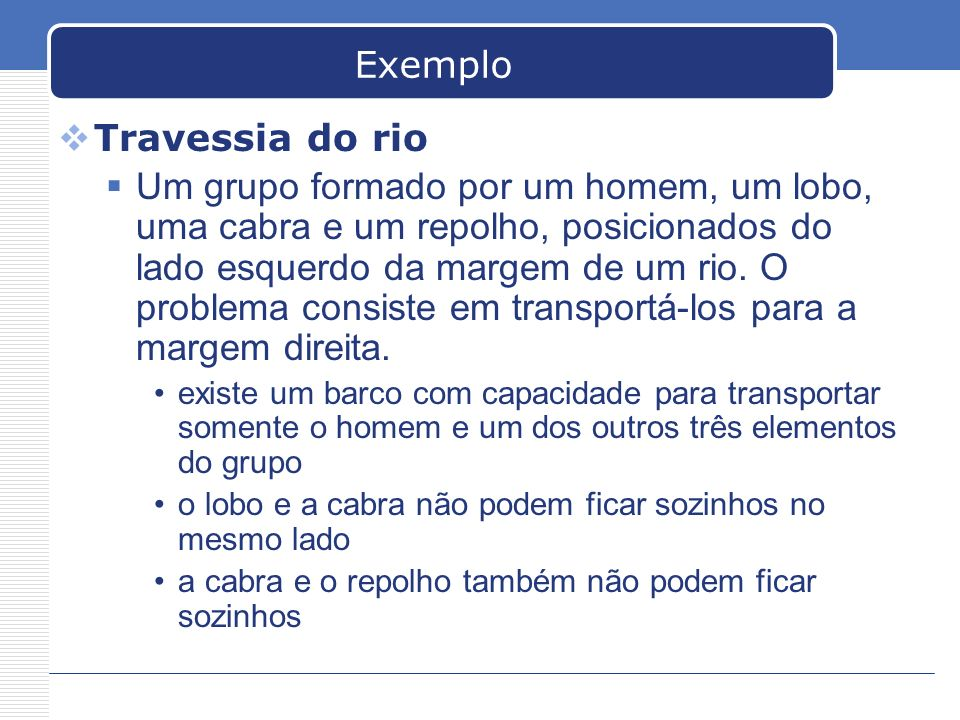 Exemplo Travessia do rio