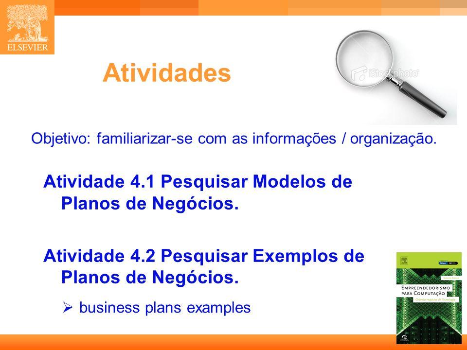 Objetivo: familiarizar-se com as informações / organização.