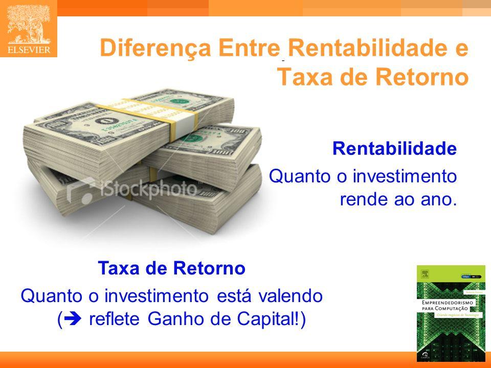 Diferença Entre Rentabilidade e Taxa de Retorno