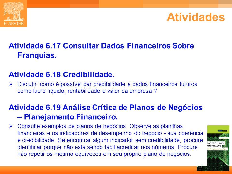 Atividades Atividade 6.17 Consultar Dados Financeiros Sobre Franquias.