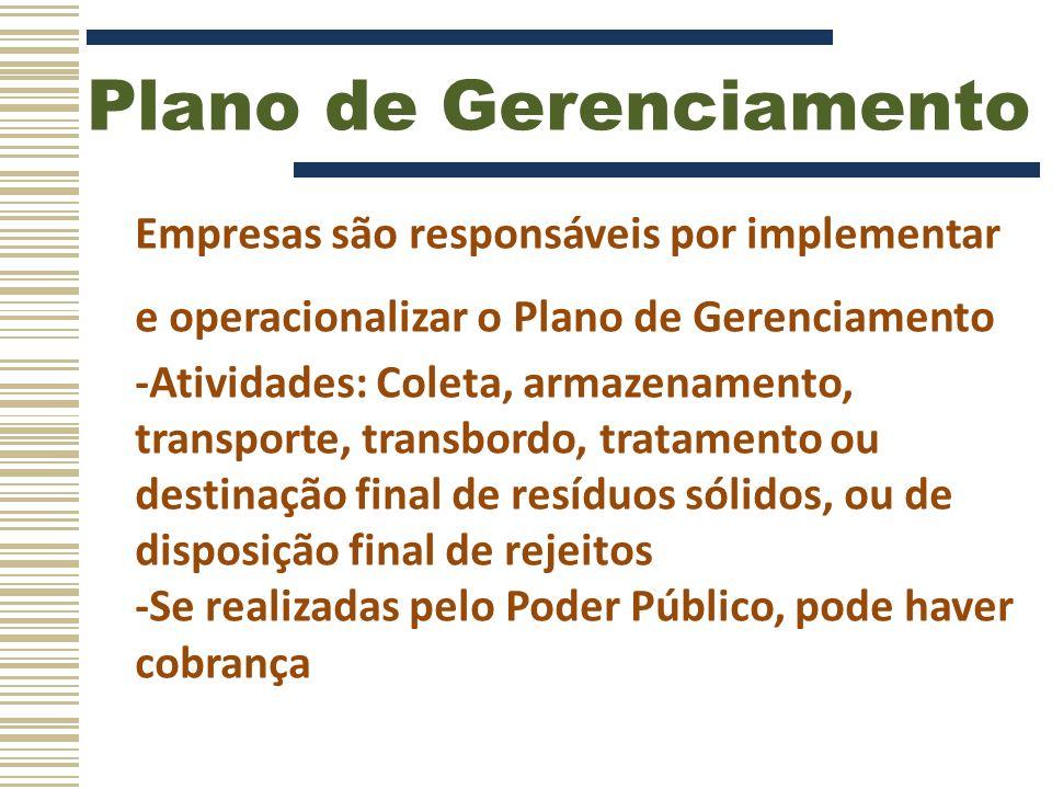 Plano de Gerenciamento