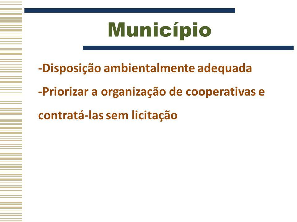 Município -Disposição ambientalmente adequada