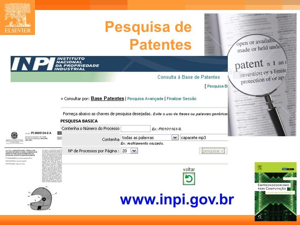 Pesquisa de Patentes www.inpi.gov.br