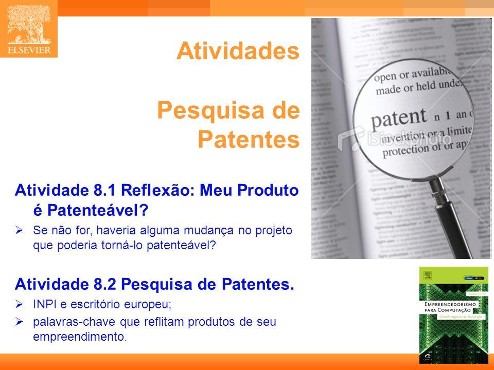 Atividades Pesquisa de Patentes
