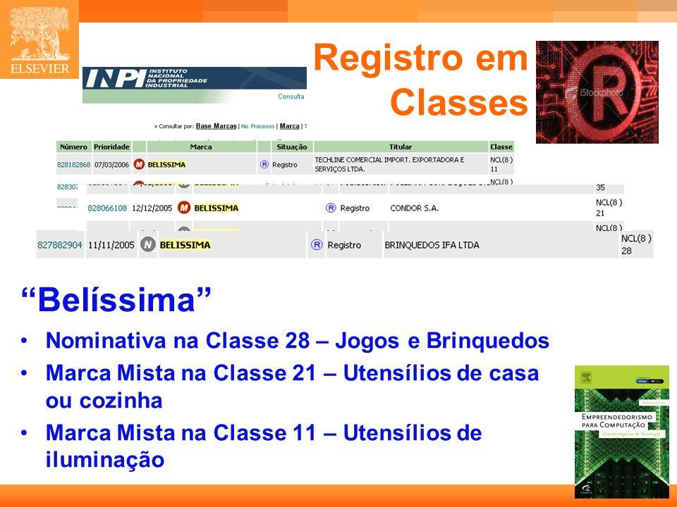 Registro em Classes Belíssima