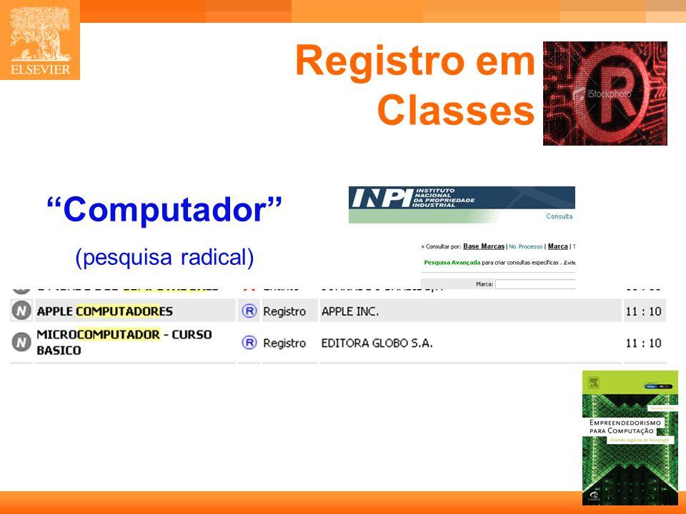 Registro em Classes Computador (pesquisa radical)