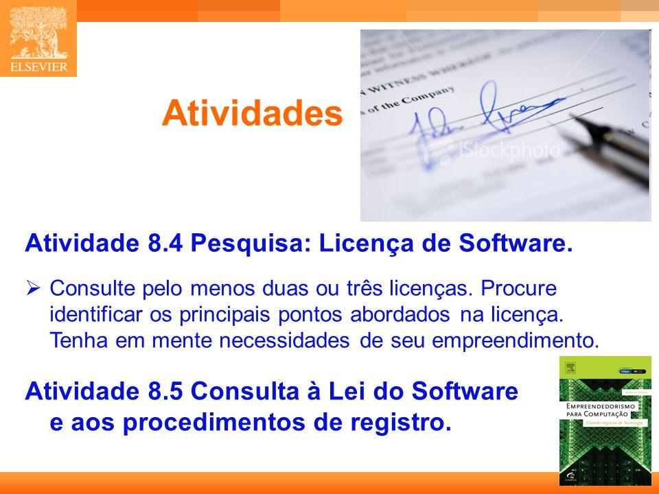 Atividades Atividade 8.4 Pesquisa: Licença de Software.