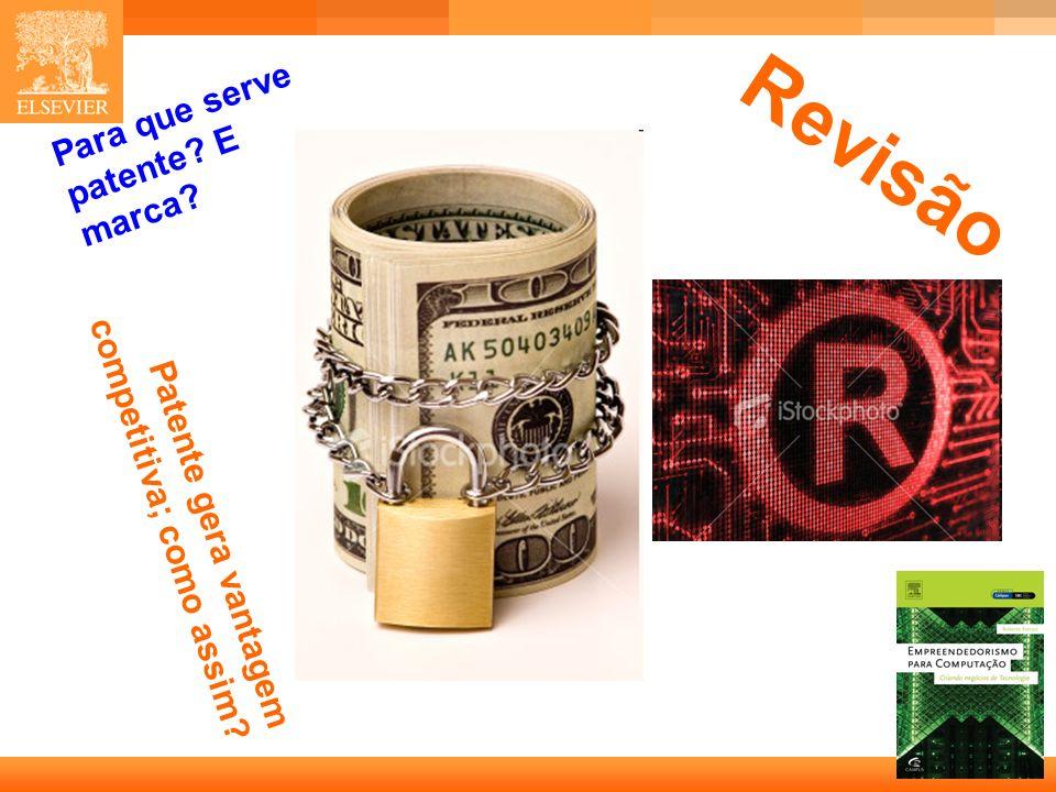 Revisão Para que serve patente E marca