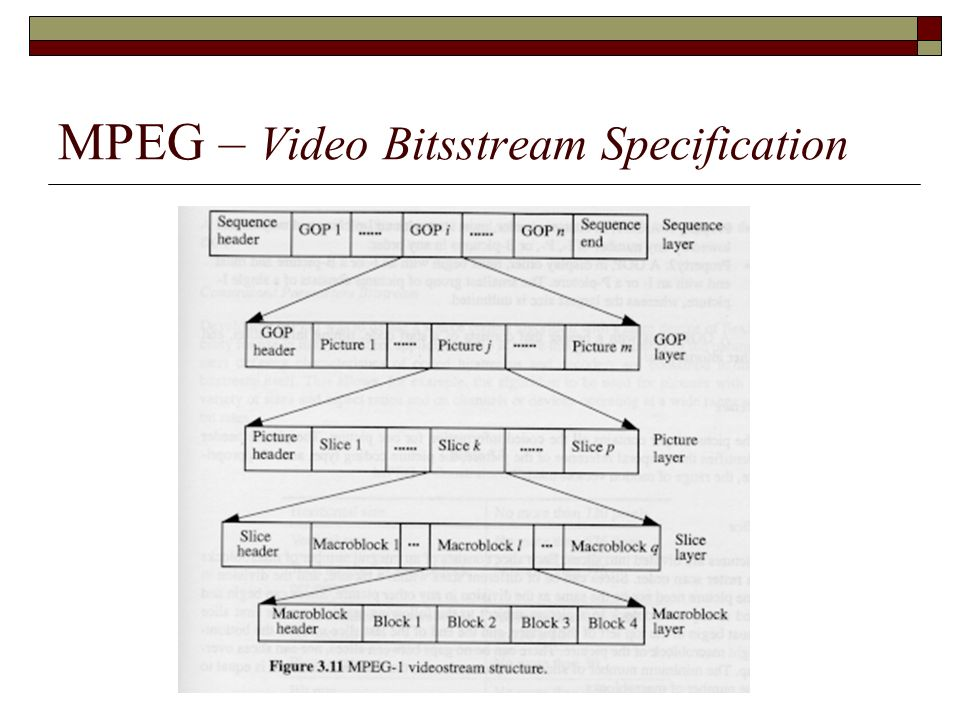 MPEG – Video Bitsstream Specification