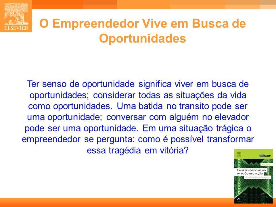 O Empreendedor Vive em Busca de Oportunidades