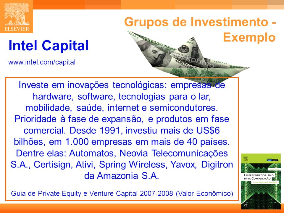 Grupos de Investimento - Exemplo