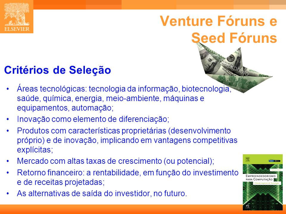 Venture Fóruns e Seed Fóruns
