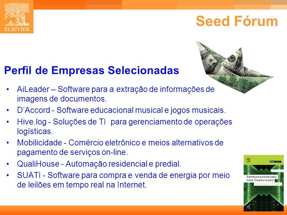 Seed Fórum Perfil de Empresas Selecionadas