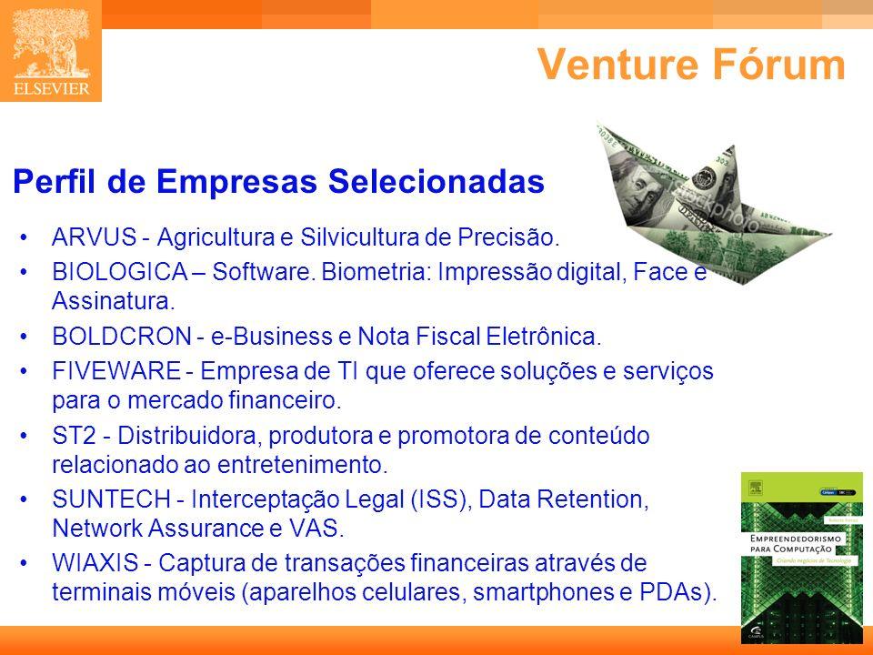 Venture Fórum Perfil de Empresas Selecionadas
