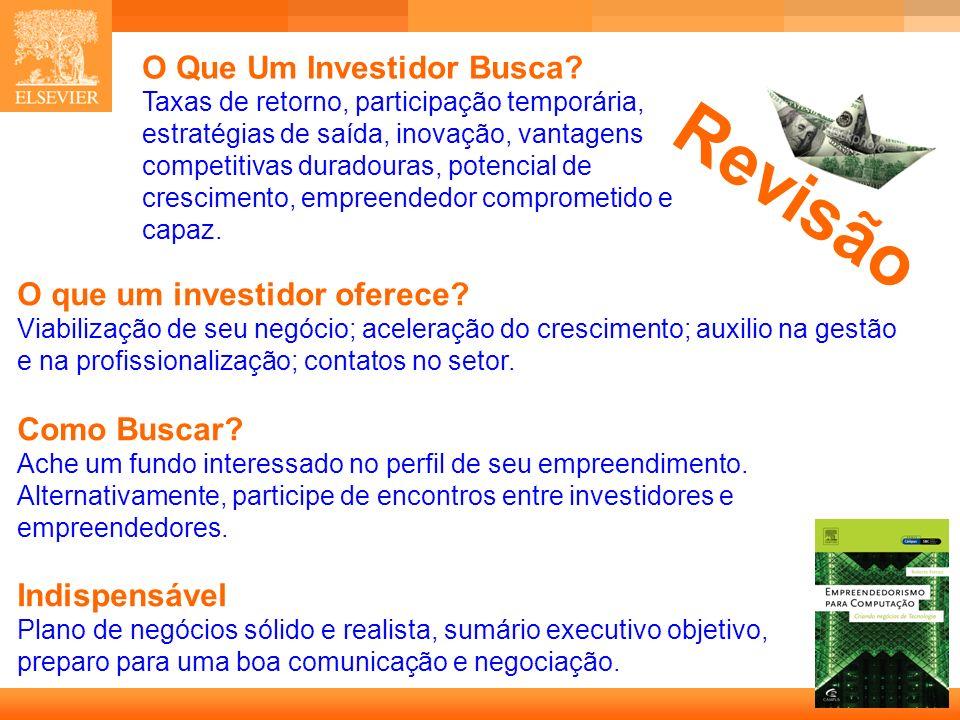 O Que Um Investidor Busca