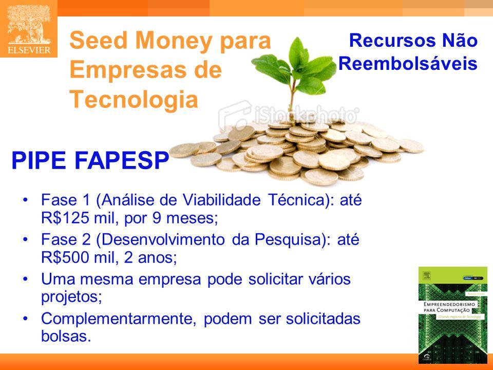 Seed Money para Empresas de Tecnologia