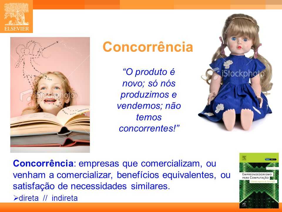 Concorrência O produto é novo; só nós produzimos e vendemos; não temos concorrentes!