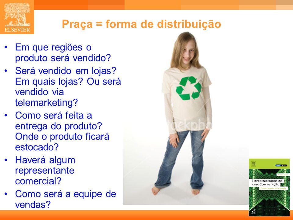 Praça = forma de distribuição