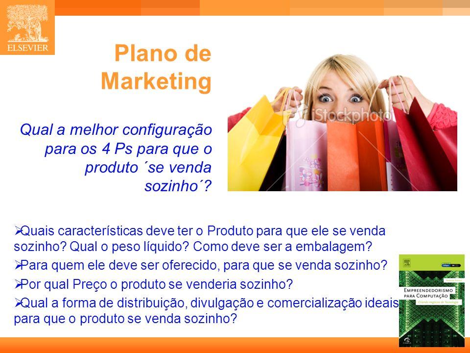 Plano de Marketing Qual a melhor configuração para os 4 Ps para que o produto ´se venda sozinho´