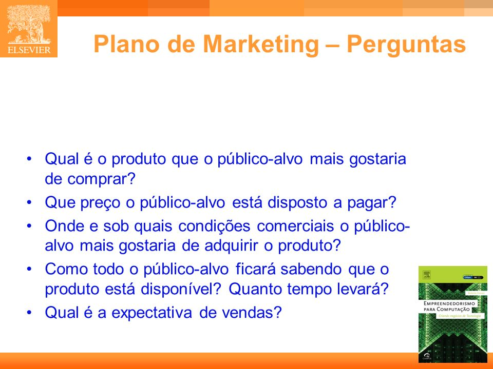 Plano de Marketing – Perguntas