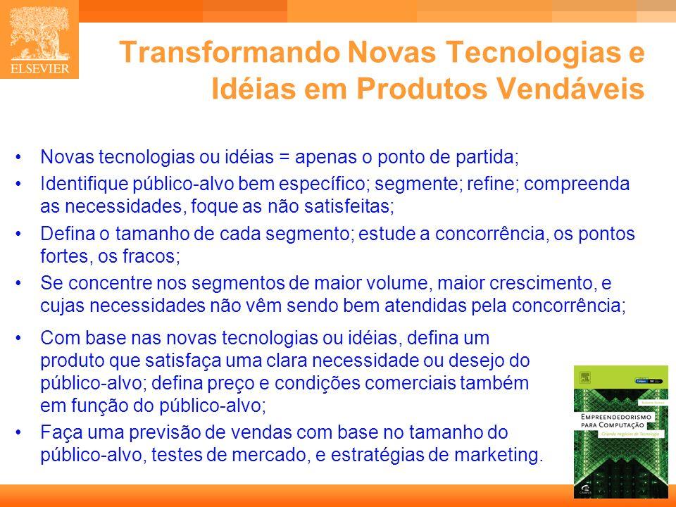 Transformando Novas Tecnologias e Idéias em Produtos Vendáveis