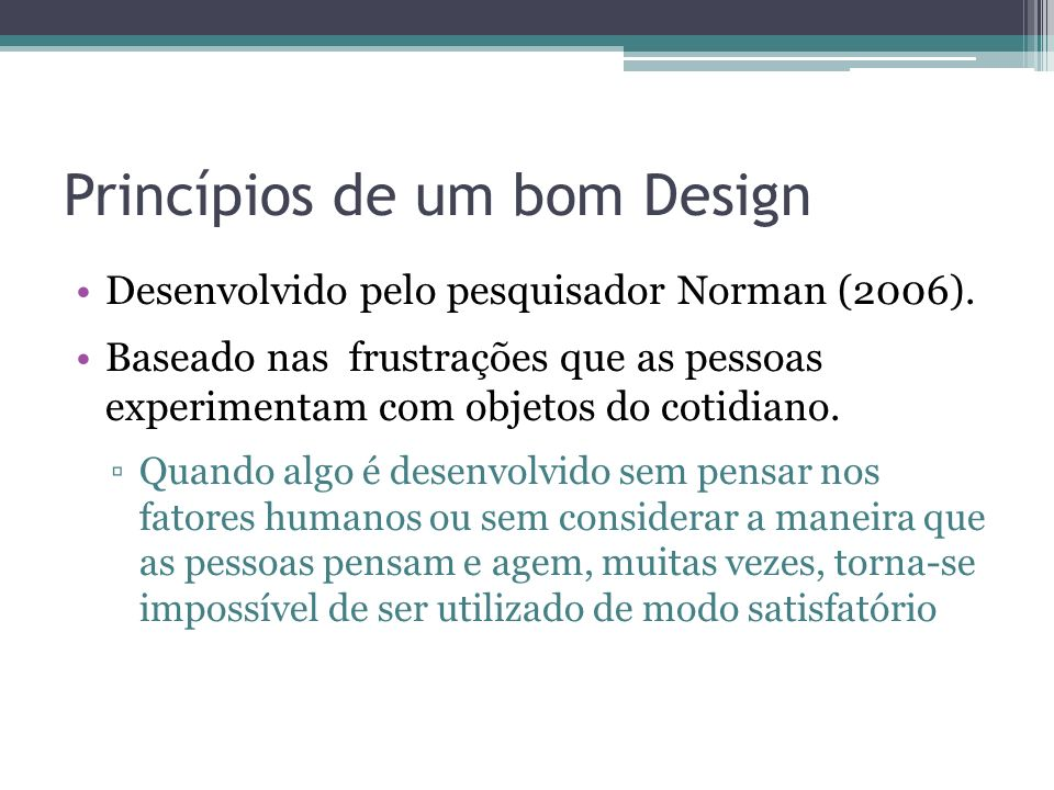 Princípios de um bom Design