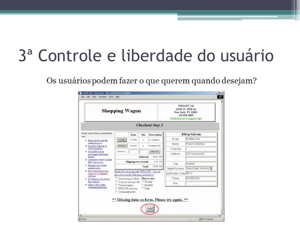 3ª Controle e liberdade do usuário