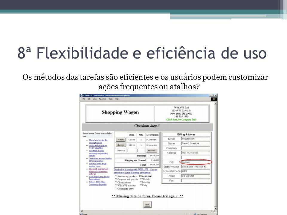 8ª Flexibilidade e eficiência de uso