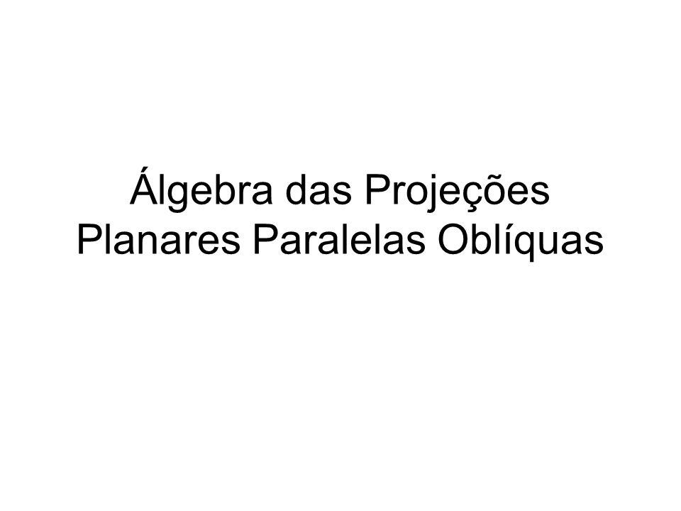 Álgebra das Projeções Planares Paralelas Oblíquas