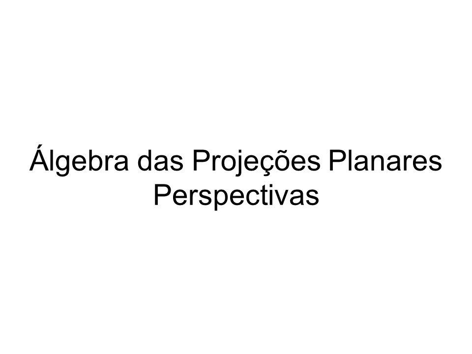 Álgebra das Projeções Planares Perspectivas