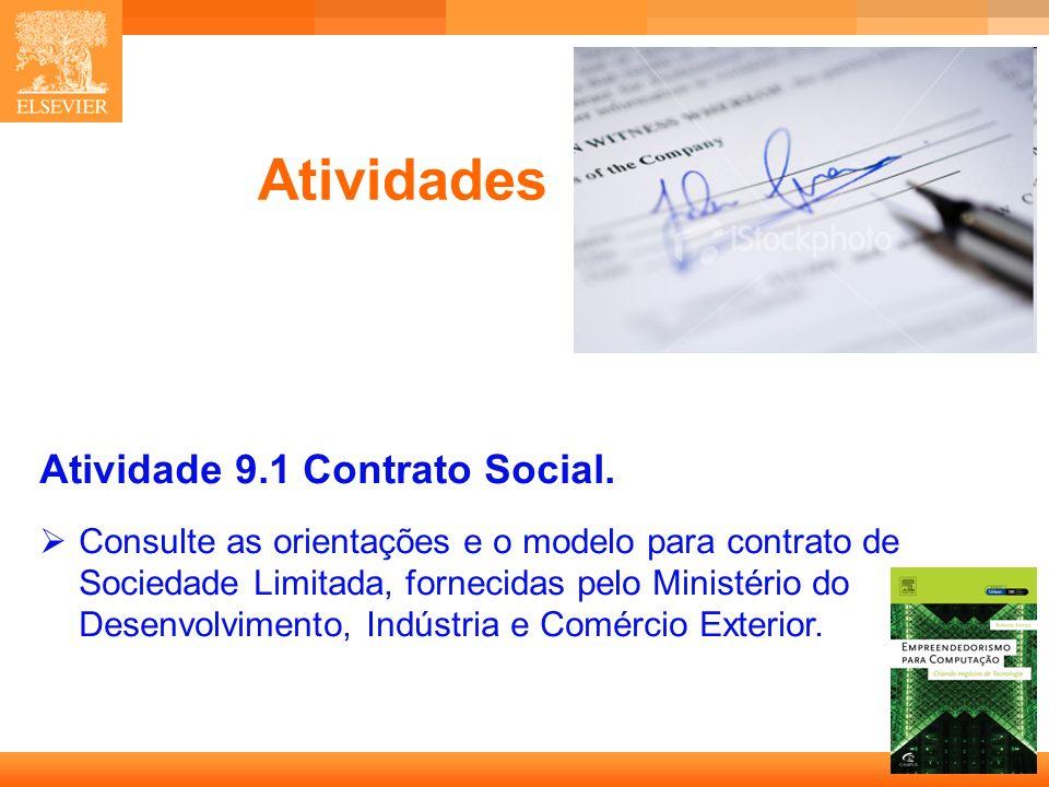 Atividades Atividade 9.1 Contrato Social.