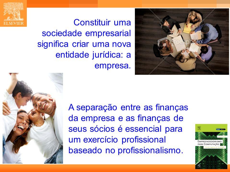 Constituir uma sociedade empresarial significa criar uma nova entidade jurídica: a empresa.
