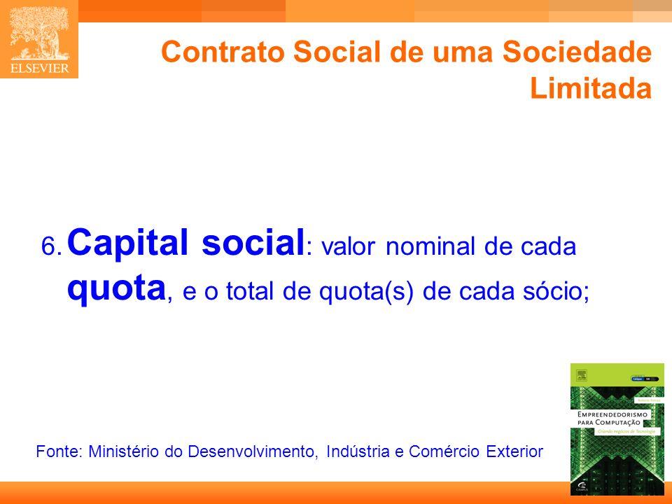 Contrato Social de uma Sociedade Limitada