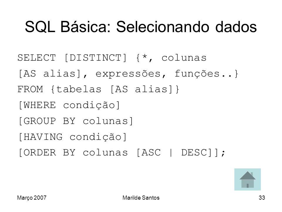 SQL Básica: Selecionando dados