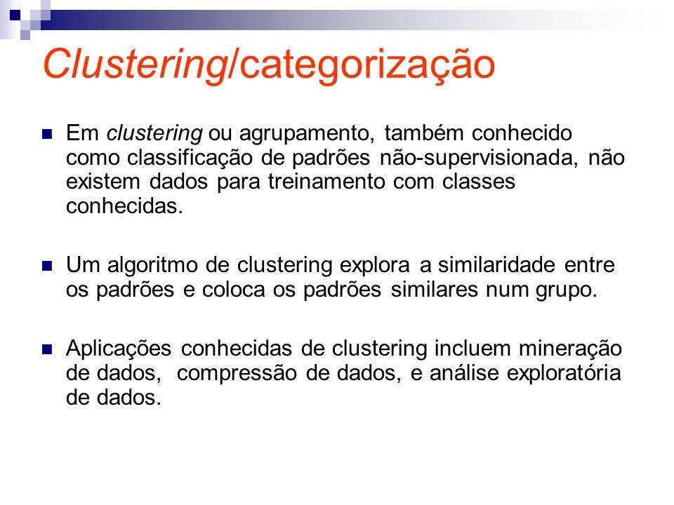 Clustering/categorização