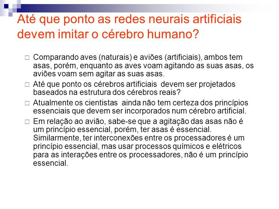 Até que ponto as redes neurais artificiais devem imitar o cérebro humano