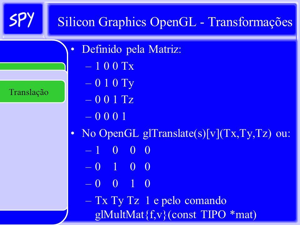Silicon Graphics OpenGL - Transformações