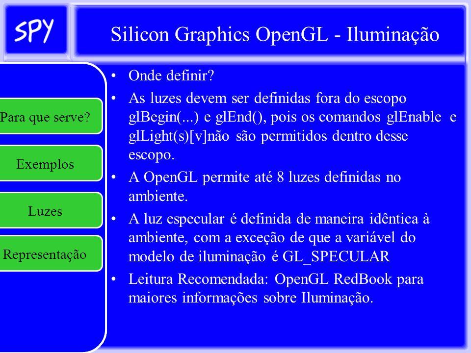 Silicon Graphics OpenGL - Iluminação