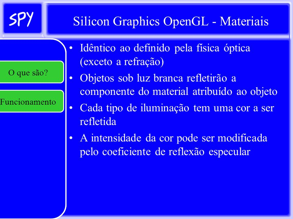 Silicon Graphics OpenGL - Materiais
