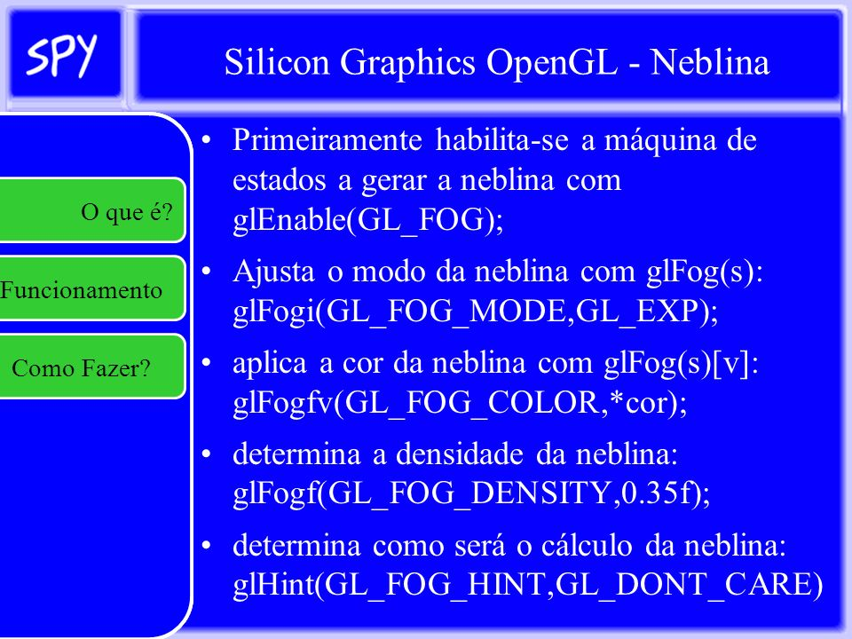 Silicon Graphics OpenGL - Neblina