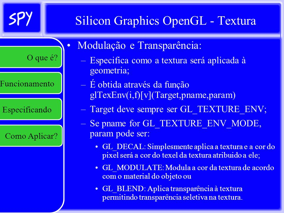 Silicon Graphics OpenGL - Textura