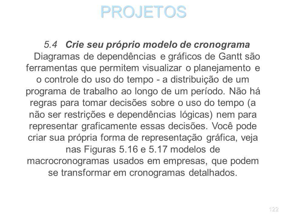 5.4 Crie seu próprio modelo de cronograma