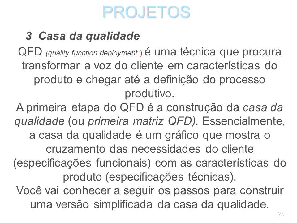 PROJETOS 3 Casa da qualidade
