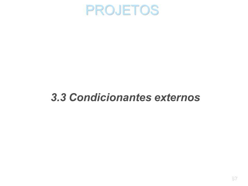 3.3 Condicionantes externos