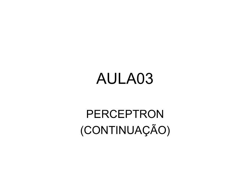 PERCEPTRON (CONTINUAÇÃO)