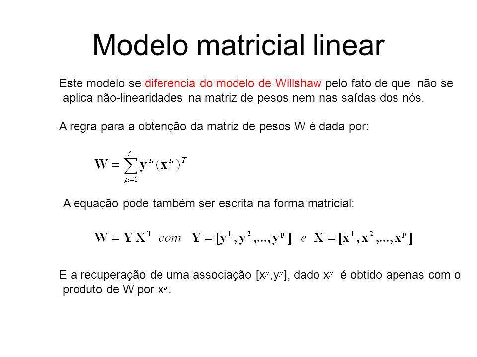 Modelo matricial linear